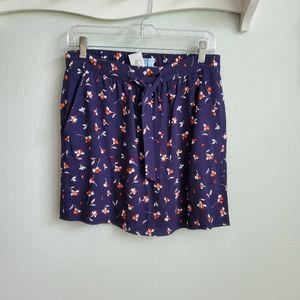 Draper James navy floral skirt XS